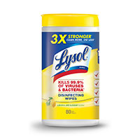 Lysol Disinfecting Wipes 80 Count Canister - Lemon/Lime Blossom Scent