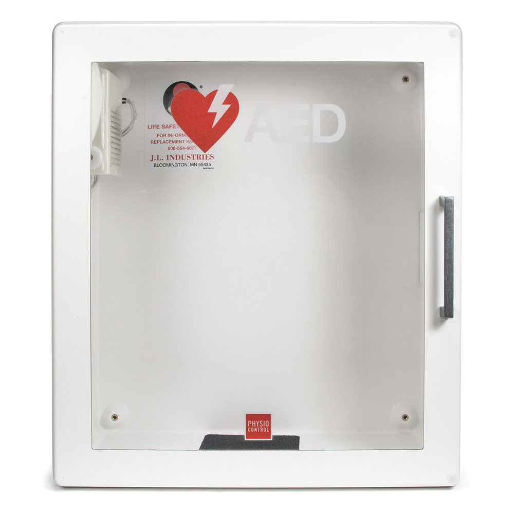 Physio-Control LIFEPAK® CR2 AED Surface Mount Cabinet w/Audible Alarm