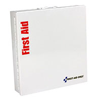 Smart Compliance ANSI A+ Kit w/o Medications in Large Metal Cabinet by First Aid Only