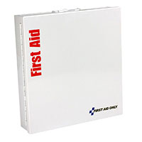 Smart Compliance Food Service ANSI A+ Kit w/o Medications in Large Metal Cabinet by First Aid Only