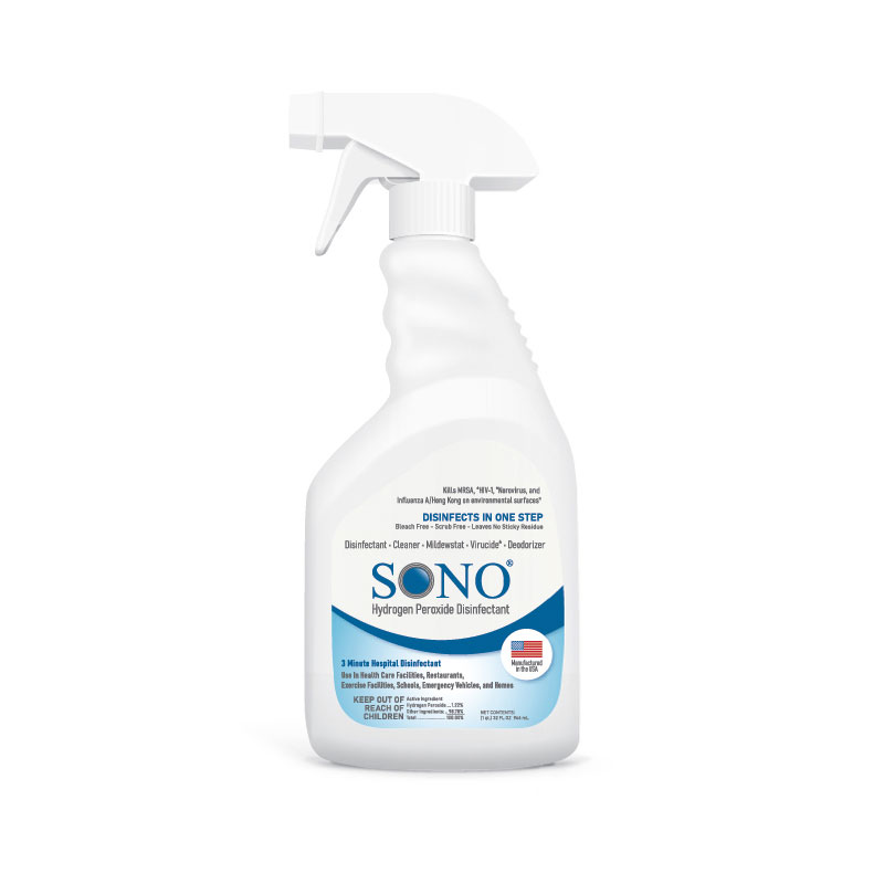 SONO Hydrogen Peroxide Disinfecting Spray - 32oz Pump Bottle