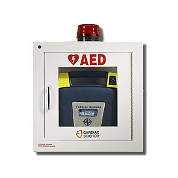 Cardiac Science AED Wall Cabinet - Fully Recessed w/ Audible Alarm & Strobe
