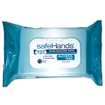 safeHands Antibacterial Alcohol-Free Wipes - 72 Wipes/Packet