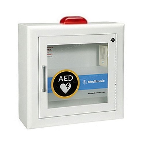 Physio-Control AED Cabinet - Surface-Mount with Alarm and Strobe Light at heartsmart.com