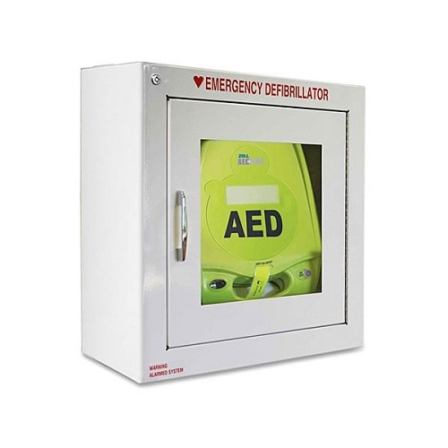 ZOLL AED Plus - Standard Size Cabinet with Alarm at heartsmart.com
