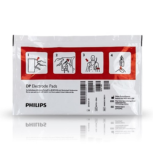 Philips FR/FR2/FR2+ Defibrillator Pads (Adult) - 5 pack at heartsmart.com