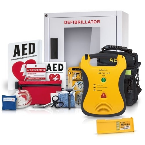 Defibtech Lifeline AED Business Value Package at heartsmart.com