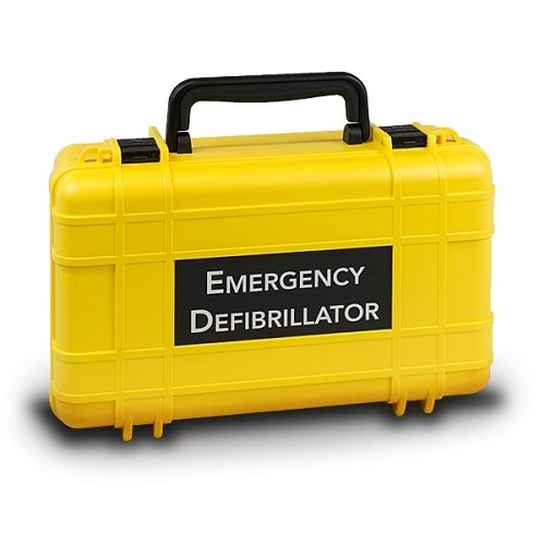 Defibtech Lifeline Deluxe Hard Carrying Case - Yellow at heartsmart.com