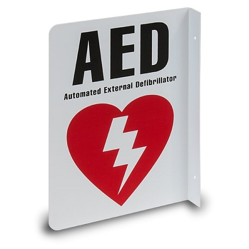 AED Wall Sign (2-Way) at heartsmart.com