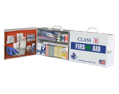 Class B First Aid Kit/ Cabinet, K615-018 at heartsmart.com