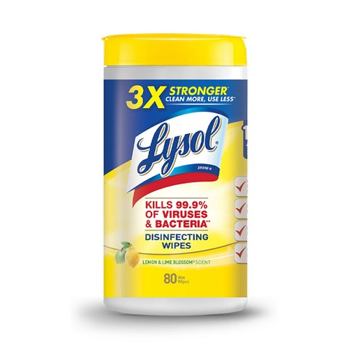 Lysol Disinfecting Wipes 80 Count Canister - Lemon/Lime Blossom Scent at heartsmart.com