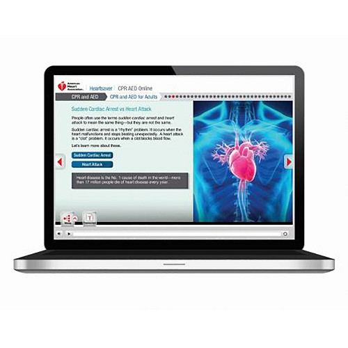 AHA 2015 Heartsaver® CPR/AED Online Key Code at heartsmart.com