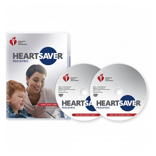 AHA 2020 Heartsaver Pediatric First Aid CPR AED on DVD at heartsmart.com