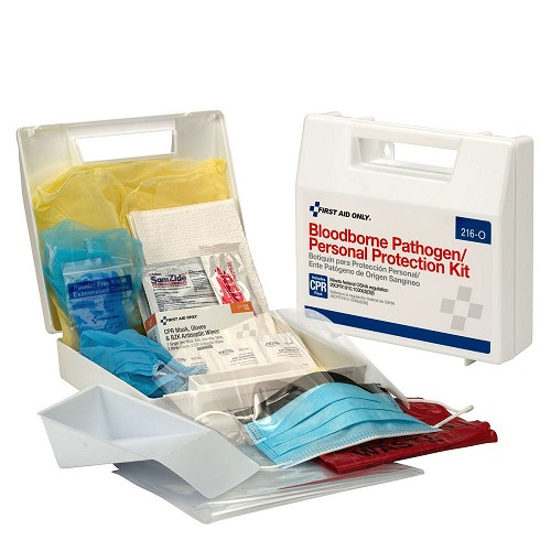 30 Piece Bloodborne Pathogen/Personal Protection Kit by First Aid Only at heartsmart.com