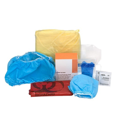 7 Piece Bloodborne Pathogen Protective Apparel Pack by First Aid Only at heartsmart.com