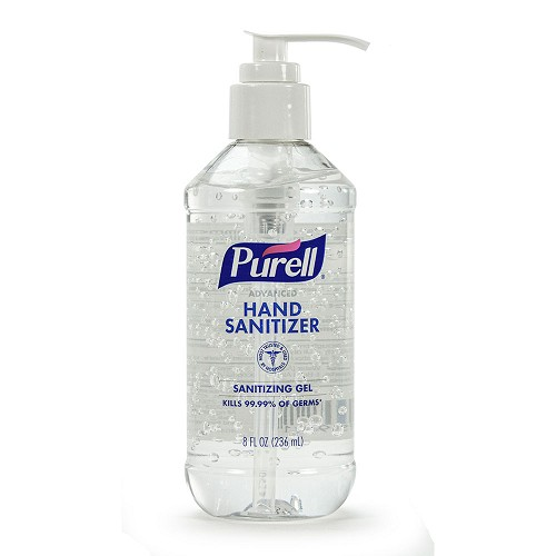 Purell Antiseptic Hand Sanitizer 8oz Pump Bottle - 60% Ethyl Alcohol at heartsmart.com