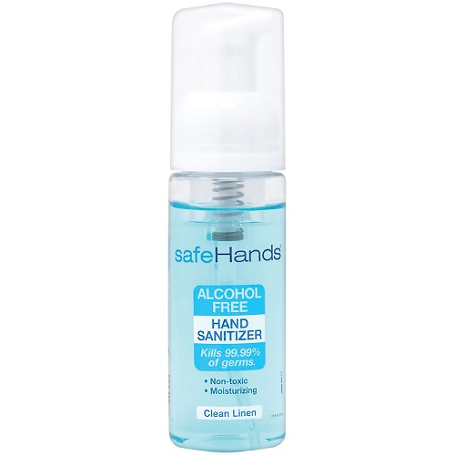 safeHands Alcohol-Free Hand Sanitizer 1.75 oz Bottle - Clean Linen - 24/Pack at heartsmart.com