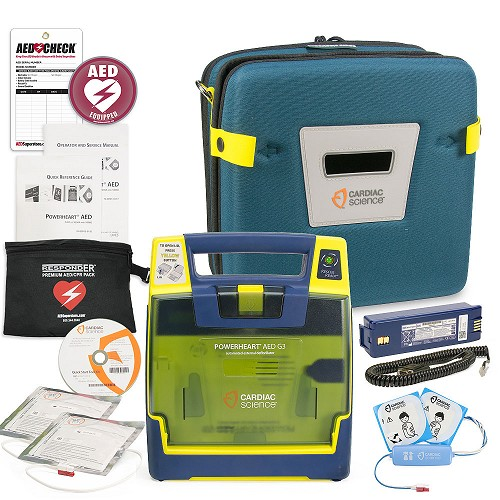 Cardiac Science Powerheart AED G3 Plus Aviation Value Package at heartsmart.com