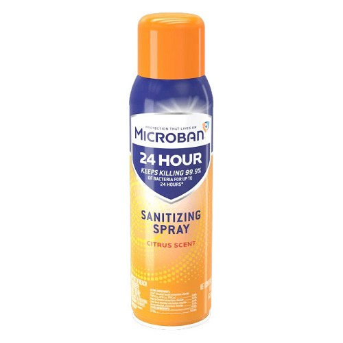 Microban 24 Sanitizing Spray 15oz Can at heartsmart.com