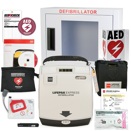 Physio-Control LIFEPAK EXPRESS AED School & Community Value Package at heartsmart.com