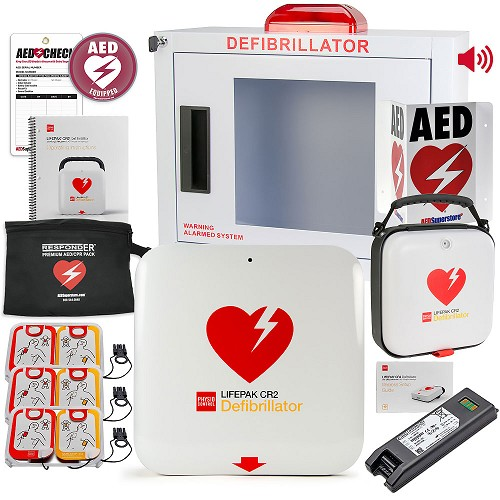 Physio-Control LIFEPAK CR2 USB AED Church/Worship Value Package at heartsmart.com